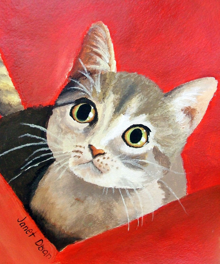 acrylic painting Janet 13 years old