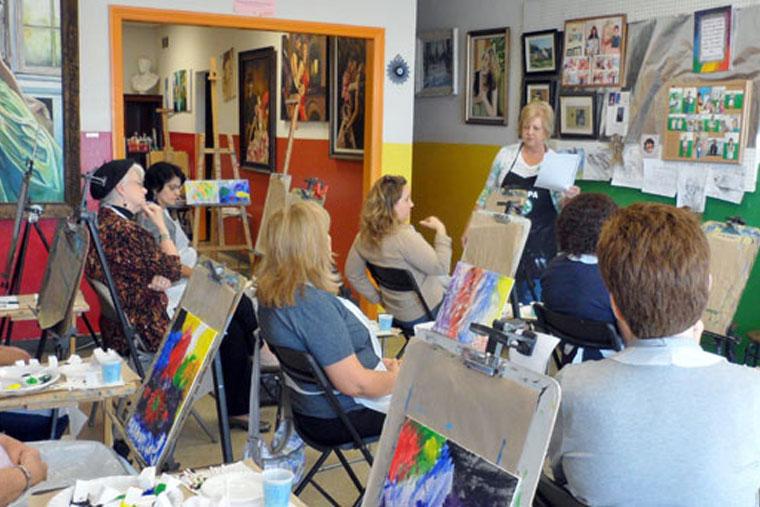 art healing class orange county mission art center